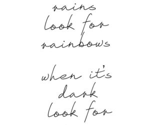 quotes, rainbow, and stars image