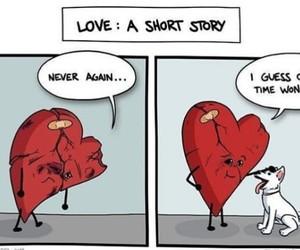 dog, heart, and heartbreak image