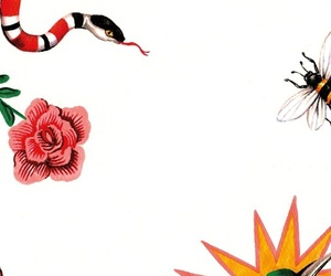 bee, gucci, and snake image