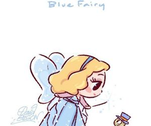 disney, blue fairy, and pinocchio image