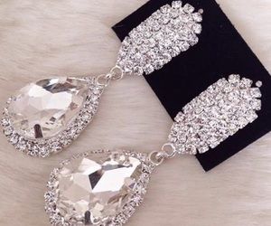 earrings, diamond, and luxury image