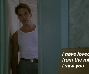 90s, Jeremy Irons, and quotes image
