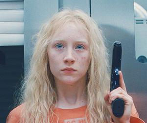blonde, gun, and hanna image