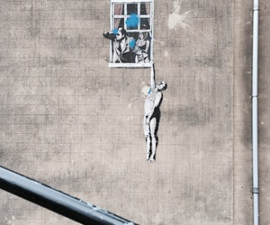 aesthetic, art, and BANKSY image