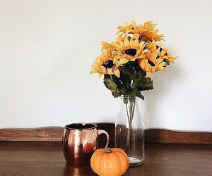 sunflower, aesthetic, and autumn image