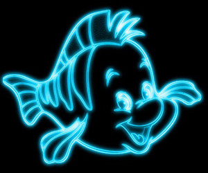 disney, flounder, and overlay image