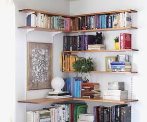 books, home, and shelf image