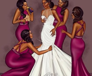 wedding, friends, and draw image