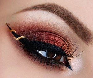 eye makeup, fashion, and lit image
