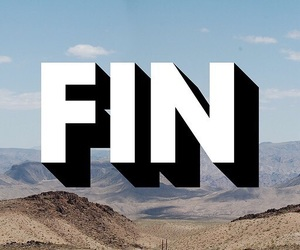 fin, end, and typography image