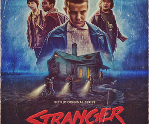 stranger things, netflix, and eleven image