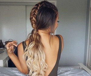 braid, updo, and hairstyle image