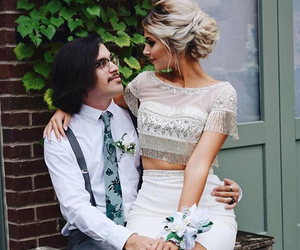 couple, Prom, and prom dress image