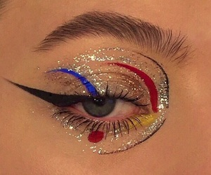 aesthetic, makeup, and art image