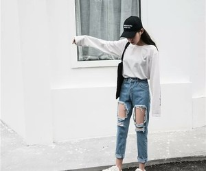 fashion, jeans, and korean image
