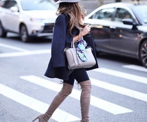 boots, fashion, and hat image