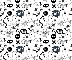 black and white, ghosts, and Halloween image