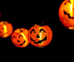 decorations, Halloween, and lanterns image