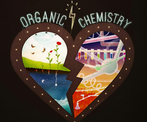organic, chemistry, and heart image