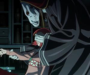 anime girl, mage, and anime boy image
