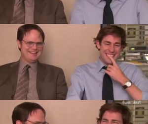dwight schrute, smile, and tv image