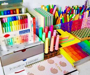 desk, goals, and school image