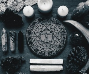 candle, witch, and witchcraft image