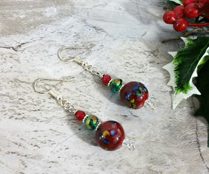 etsy, gift ideas, and red earrings image