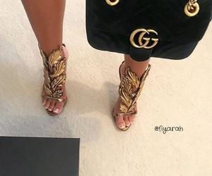 luxury, bag, and heels image