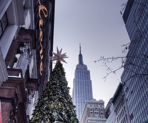 christmas, winter, and new york image