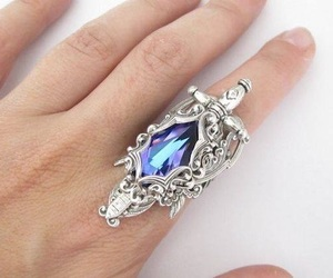 beautiful, blue, and blue ring image