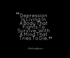 depression, quotes, and thoughts image