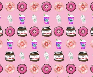 coffee, donuts, and nutella image