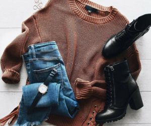 girly, autumn, and style image