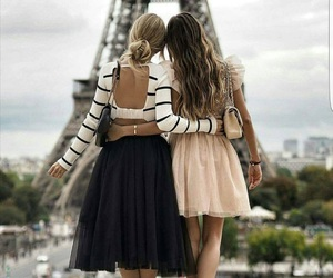 paris, friends, and girls image