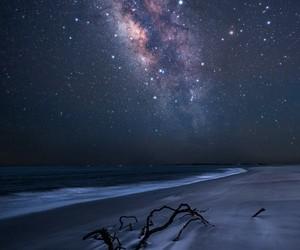 beach, coast, and dark image