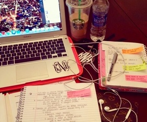 study, book, and laptop image