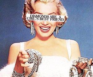 diamonds, Marilyn Monroe, and best friends image
