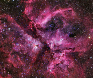 pink, space, and blue image