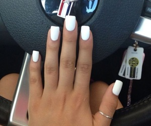 nails, white, and car image
