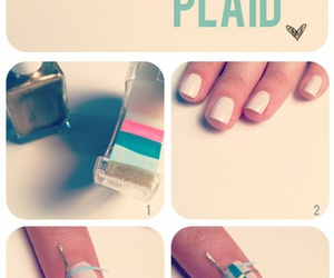 plaid nails image