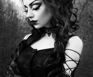 girl, gothic, and lady image