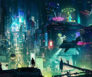 futuristic and cyber punk image
