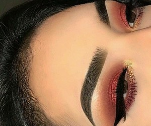 aesthetic, eyeshadow, and lashes image