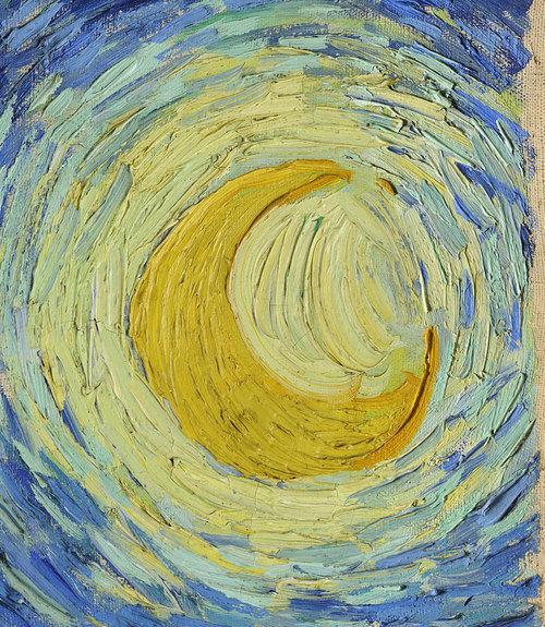 art, moon, and van gogh image