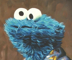 blue, cookie monster, and wallpeper image