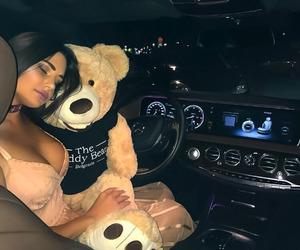 car, girl, and night image