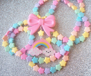 decora, rainbow, and necklace image