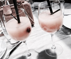 drink, pink, and beauty image