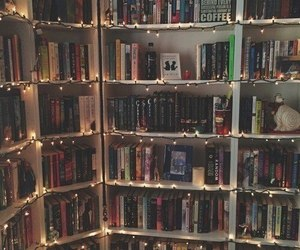 book, light, and library image